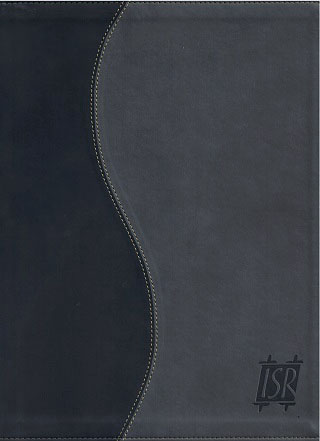 The Scriptures Large Print Charcoal and Black Duotone Flexi Cover